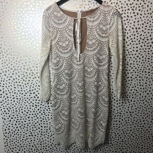 For Love and Lemons cream lace dress size small